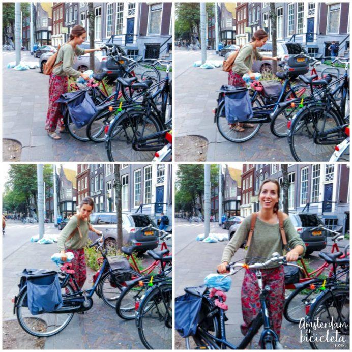 Ana de Amsterdam en Bicicleta